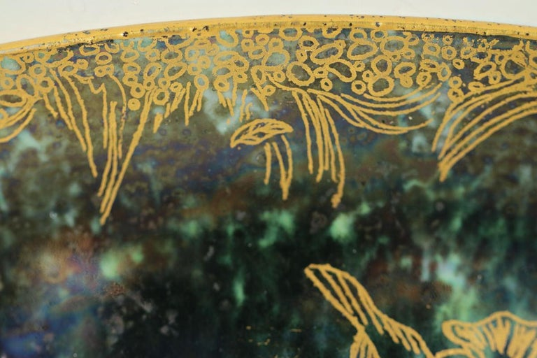 Wedgwood Fairyland Lustre Garden of Paradise Lily Tray For Sale 7