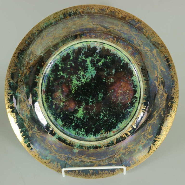 Glazed Wedgwood Fairyland Lustre Garden of Paradise Lily Tray For Sale