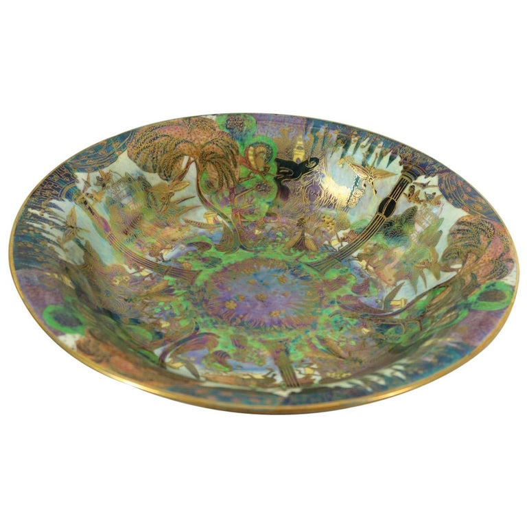 Wedgwood Fairyland Lustre Garden of Paradise Lily Tray For Sale