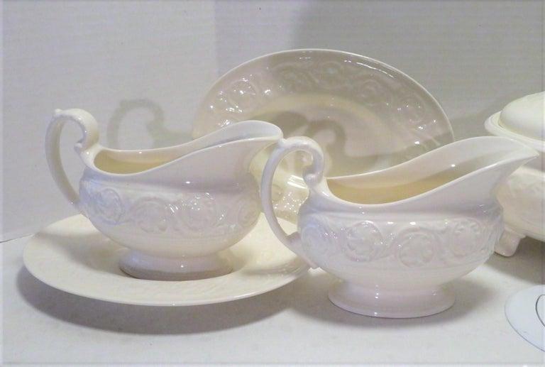 Ceramic Wedgwood Fine Bone China Dinnerware Patrician Pattern England 165pcs For Sale
