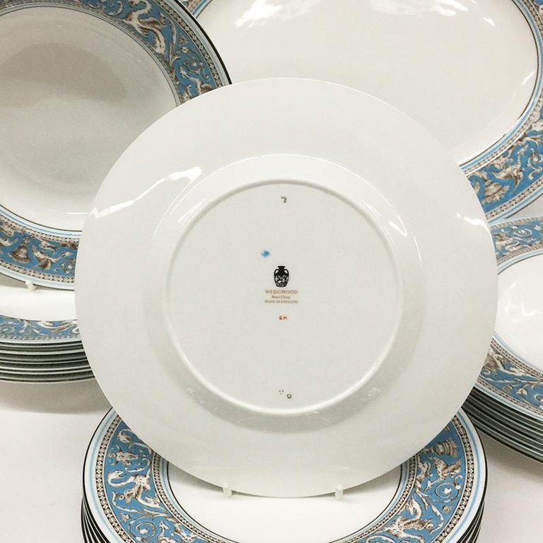 British Wedgwood Florentine Turqoise Rim, Prestige Collection For Sale