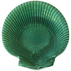 Wedgwood Green Majolica Shell Plate