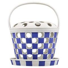 Wedgwood Jasper-Dip Pierced Orange Basket
