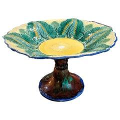 Wedgwood Majolica Cauliflower Pattern Compote Pedestal Bowl, English, 1879