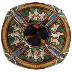 Wedgwood Majolica Dancing Putti and Angels Plate