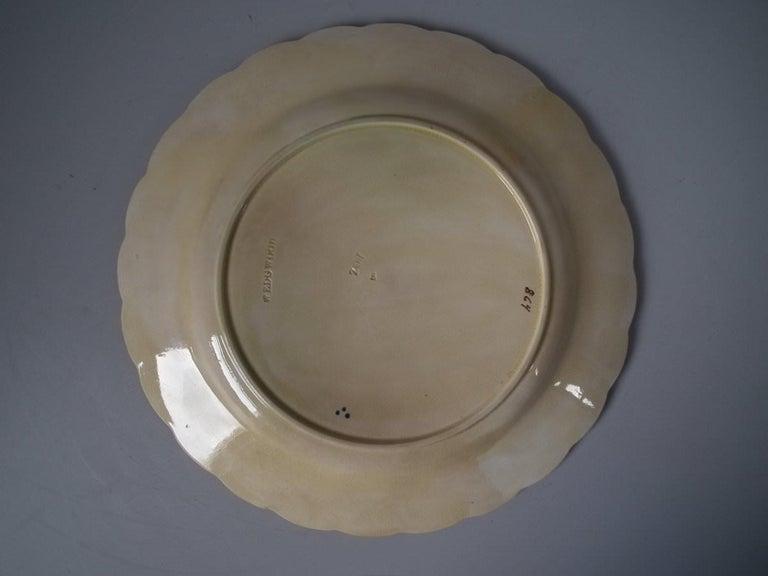 Wedgwood Majolica Heron Plate For Sale 1