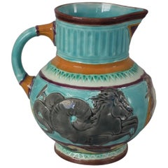 Wedgwood Majolica Neptune & Hippocamp Jug or Pitcher