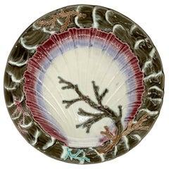 Wedgwood Majolica Ocean Plate, English, Dated 1877