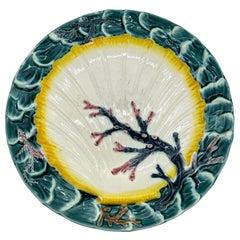 Wedgwood Majolica Ocean Plate, English, Dated 1881