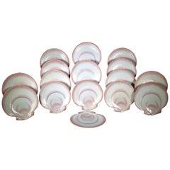 Wedgwood Nautilus Pattern Pearlware Seashell Dessert Plates- Set of 16