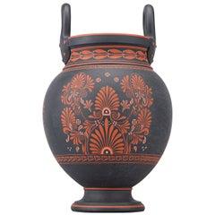 """Wedgwood """"Pandora's Box"""" Black Basalt Encaustic Krater Vase"""
