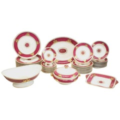Wedgwood Porcelain Dinner Service for 12 in Columbia Powder Red