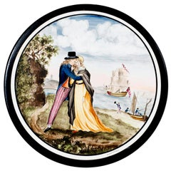 Wedgwood Pottery Large Painted Plaque, the Sailor's Farewell, circa 1820