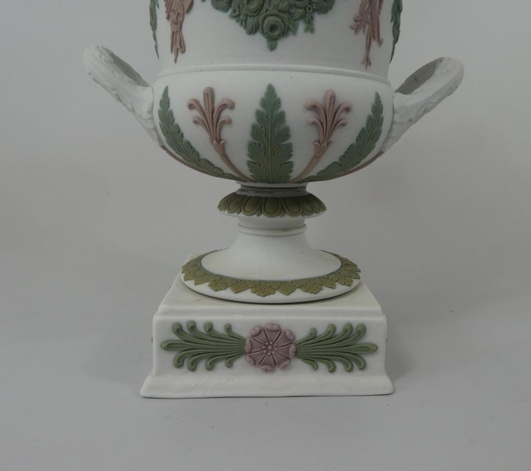 Wedgwood 'Three colour' Vase and Cover, circa 1900 In Good Condition For Sale In Gargrave, North Yorkshire