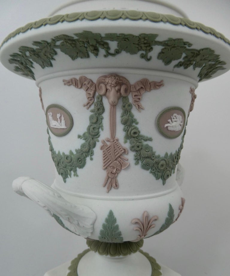 19th Century Wedgwood 'Three colour' Vase and Cover, circa 1900 For Sale