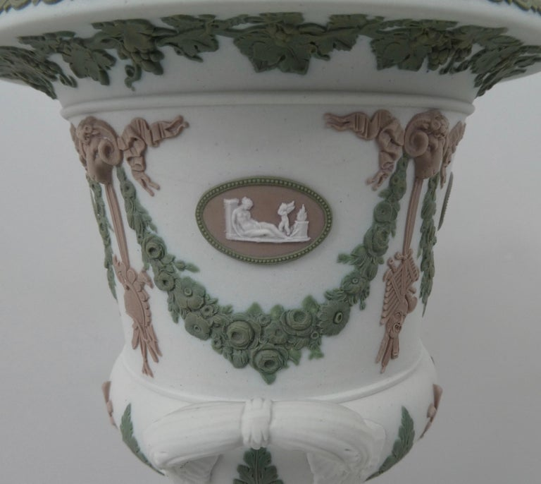 Pottery Wedgwood 'Three colour' Vase and Cover, circa 1900 For Sale