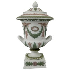 Wedgwood 'Three colour' Vase and Cover, circa 1900