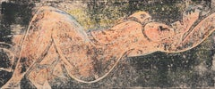 Cabinet-Sized, Post-Impressionist Figural of a Reclining Nude