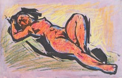 'Reclining Nude', California Post-Impressionist, de Young Museum, Fauve