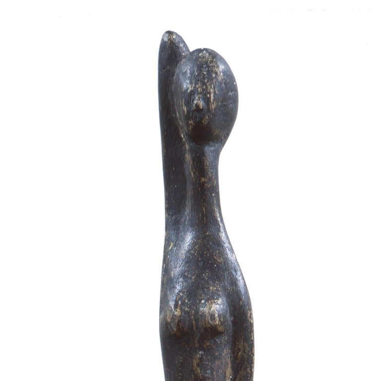 'Standing Woman', Modernist Sculpture, San Francisco Bay Area, de Young Museum - Brown Nude Sculpture by Wedo Georgetti