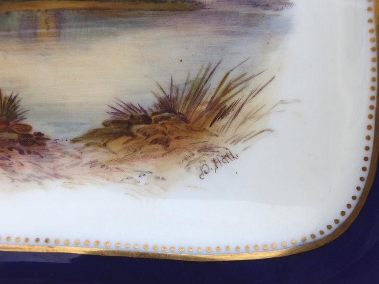 Wedgwood 'England' Hand Painted Cabinet Plates Depicting UK Landmarks, 3 For Sale 3