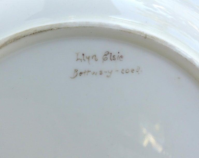 Wedgwood 'England' Hand Painted Cabinet Plates Depicting UK Landmarks, 3 For Sale 8