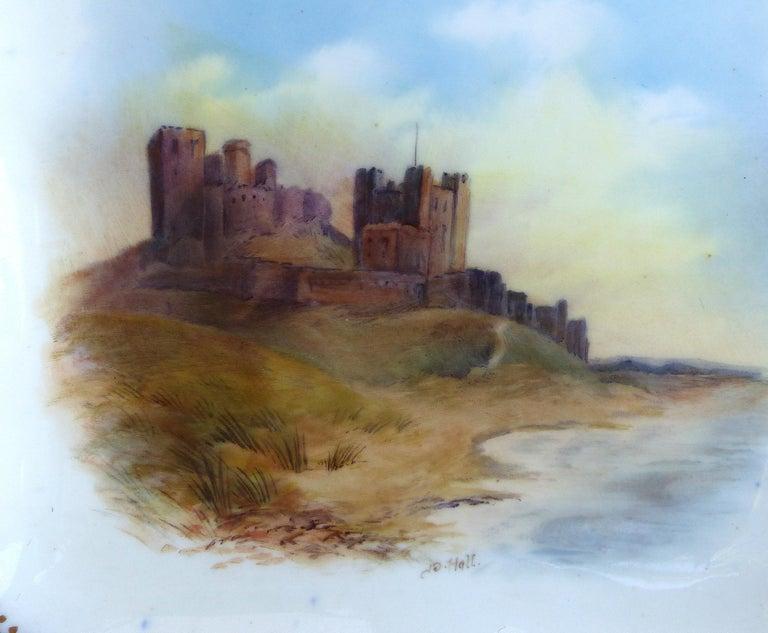 20th Century Wedgwood 'England' Hand Painted Cabinet Plates Depicting UK Landmarks, 3 For Sale