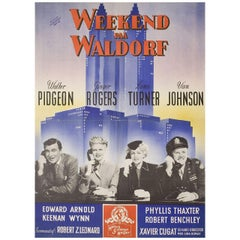 Week-End at the Waldorf 1947 Danish A1 Film Poster