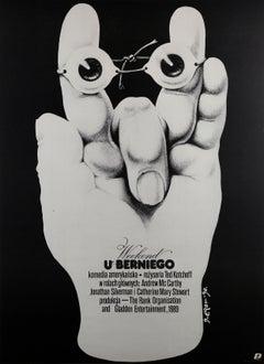 Weekend At Bernie's 1990 Polish Film Poster, Jakub Erol