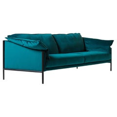 Weekend Petrol-Blue Sofa by Angeletti Ruzza