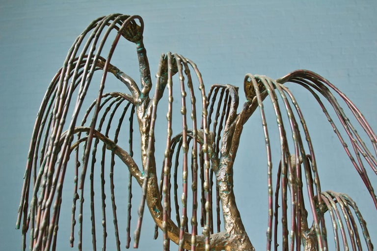 Mid-Century Modern Weeping Willow Sculpture by Brian Bijan For Sale