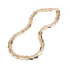 Wefferling Berry Art Deco Rose Green Gold Necklace