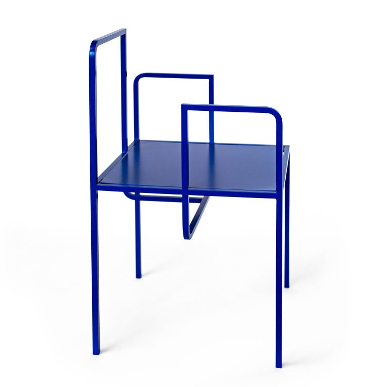 Modern Wei Contemporary Chair in Metal For Sale