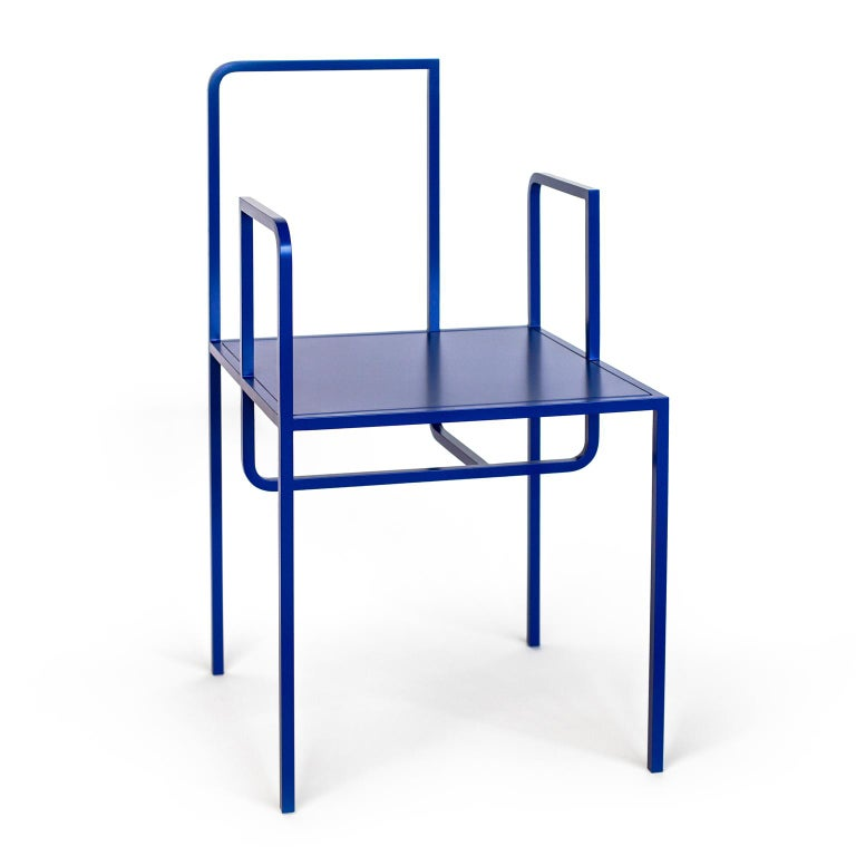 German Wei Contemporary Chair in Metal For Sale