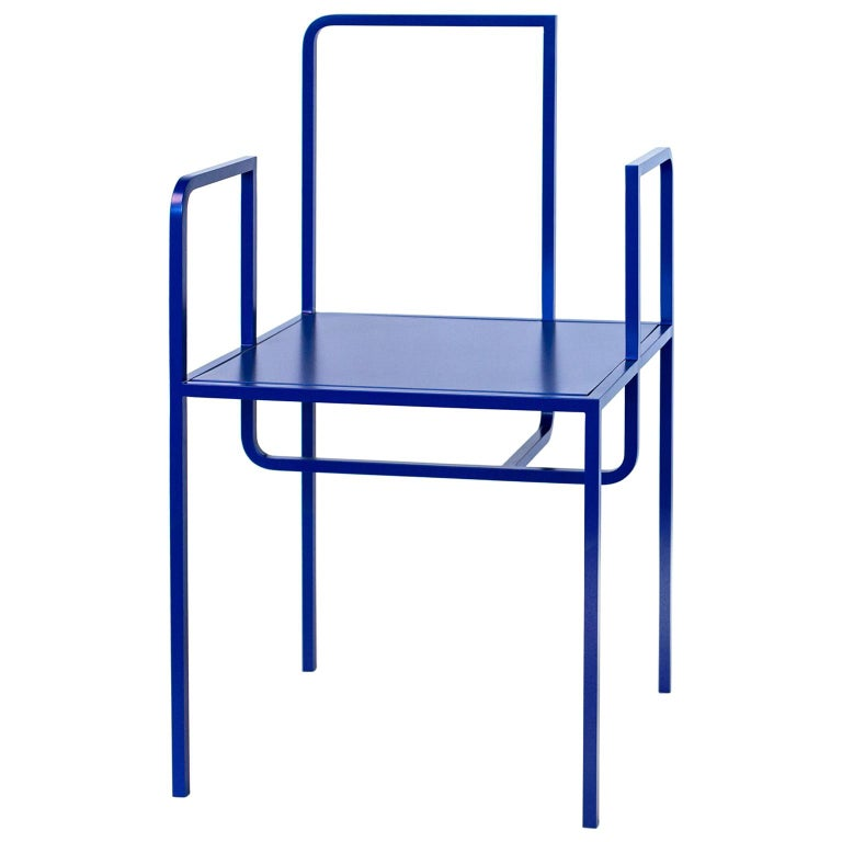 Wei Contemporary Chair in Metal For Sale