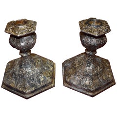 Weidlich Bros. Silver Plate Candle Holders circa 1922 Bridgeport, Ct