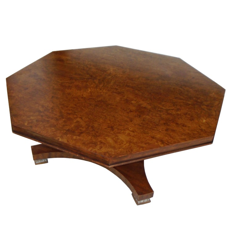 Mid-Century Modern Weiman Octagon Shaped Coffee Table For Sale