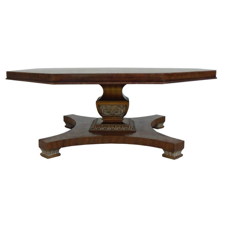 North American Weiman Octagon Shaped Coffee Table For Sale