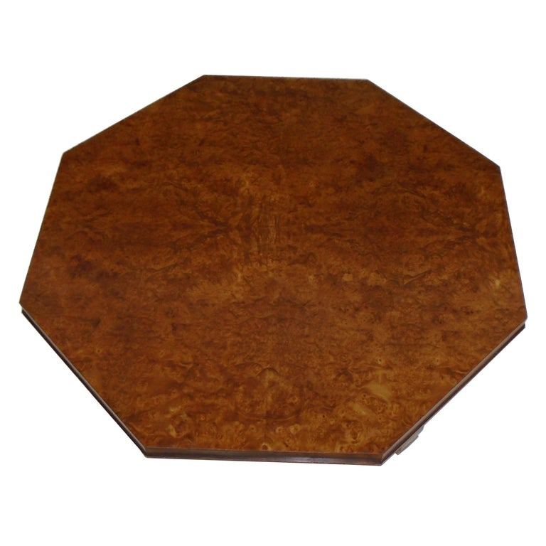 Weiman Octagon Shaped Coffee Table In Good Condition For Sale In Pasadena, TX