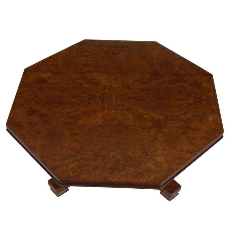 Late 20th Century Weiman Octagon Shaped Coffee Table For Sale