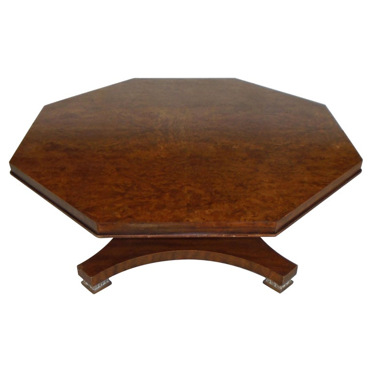 Weiman Octagon Shaped Coffee Table For Sale