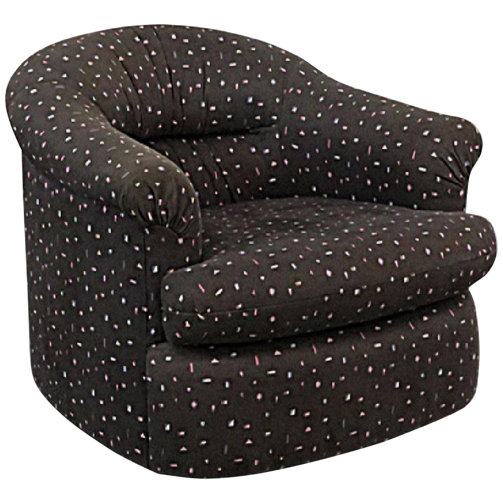 Weiman Preview Birthday Cake Swivel Armchair, 1980s, Attributed to Kagan