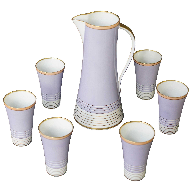 Weimar Porcelain Romeo Drinking Set Germany 1950s