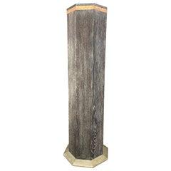 Weiner Werkstatte Cerused Oak Pedestal