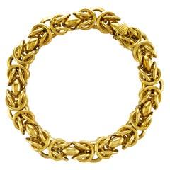 Weingrill 18 Karat Yellow Gold Woven Link Bracelet