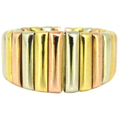Weingrill Three Gold Yellow Rose White Gold Links Band Ring