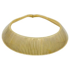 Weingrill Wide Gold Tubogas Necklace