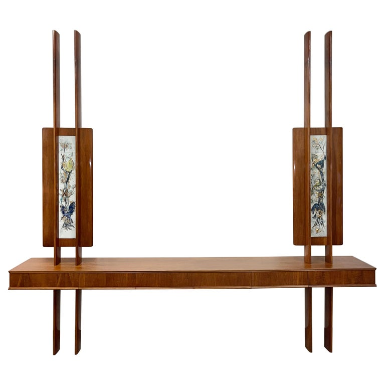 Weiss & Basser Architectural Buffet with Jean Nison Tiles For Sale