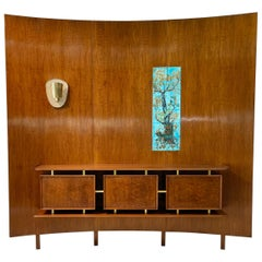 Weiss & Basser Curved Wall with Floating Sideboard