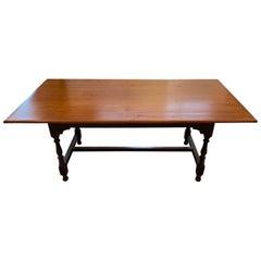 Welcoming Artisan Handmade Country Farm Table